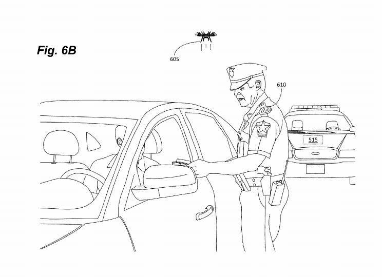 dron dla sluzb mundurowych od Amazona uzycie z samochodem policyjnym