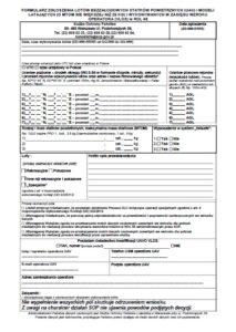 sop nowy formularz zgody na lot