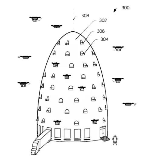 ule dla dronów - patent firmy Amazon